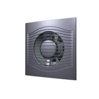 Вентилятор SLIM 4C gray metal (D=100, V=90m3/h), обратный клапан, малошумящий 25дБ