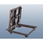 Напольный люк 80*80 стальной Угол-СТ, 2 амортизатора