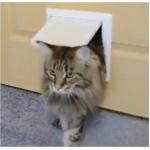 Лаз в дверь для кошки / котоход 150*150 (проем 40мм), белый