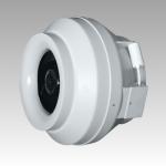Вентилятор канальный СYCLONE-EBM 125 (D=125, V=370m3/h), центробежный приточно-вытяжной пластиковый