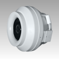 Вентилятор канальный СYCLONE-EBM 125 (d=125, V=370m3/h), центробежный, пласт.корпус