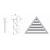 Слуховое окно жалюзийное треугольное, размер строительного проема LxH, мм