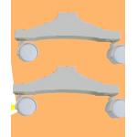 Комплект пластиковых ножек для обогревателей Теплофон IT, MT