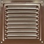Решетка стальная 2020 РМ, коричневая, вентиляционная с покрытием полимерной эмалью, с сеткой 200х200
