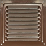 Решетка стальная 3030 РМ, коричневая, вентиляционная с покрытием полимерной эмалью, с сеткой 300х300