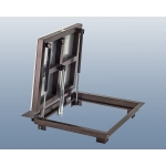 Напольный люк 90*70 стальной Угол-СТ, 2 амортизатора