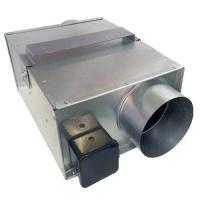 Вентилятор ВКП-125 канальный в прямоугольном корпусе для круглых воздуховодов (350 m³/h)