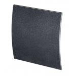 Лицевая панель 100 PEGB-М, стекло черный матовый ESCUDO 160х160, Awenta
