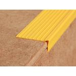 ЕВРОСТУПЕНЬ У (50х20х12000 мм.), самоклеющийся уголок, желтый