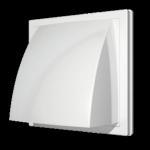Выход стенной 1515К12,5ФВ, белый, вытяжной с обр.клапаном 150х150 с фланцем D125,  ASA-пластик