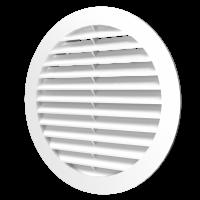 16РКН, Решетка наружная вентиляционная круглая D200 с фланцем D160, ASA-пластик