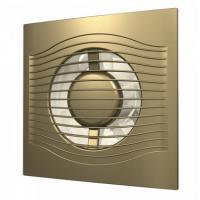 Вентилятор SLIM 4C champagne (D=100, V=90m3/h), обратный клапан, малошумящий 25дБ