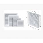 Решетка 20*25 TRU вентиляционная вытяжная 200*250 с сеткой, АВS- пластик, белая