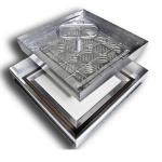 Люк напольный 300*500 ПРЕМИУМ алюминиевый, глубина 48мм.